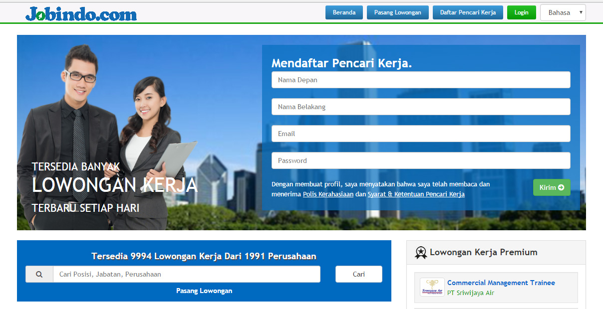 Website Lowongan Kerja Terpercaya Di Indonesia Kelas Karyawan S1 S2 Universitas Widyatama Bandung